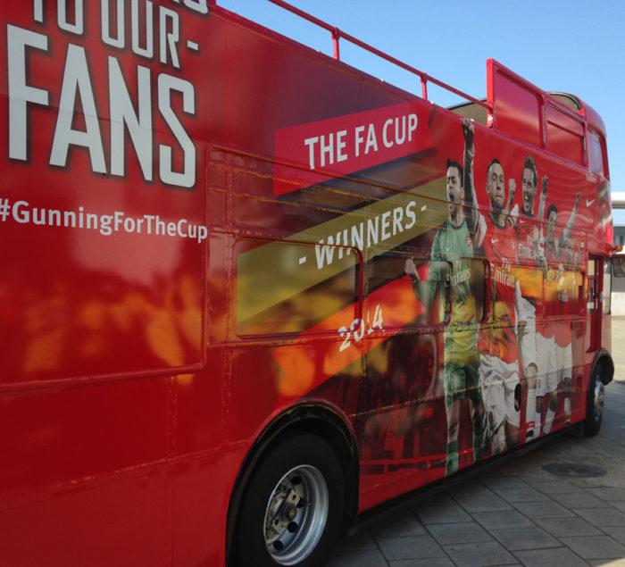 Branded bus