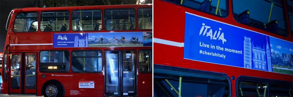 Bus side advertising
